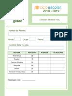 Examen_Trimestral_Cuarto_grado_2018-2019