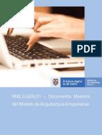 Documento Maestro del Modelo de Arquitectura Empresarial V1.0.pdf