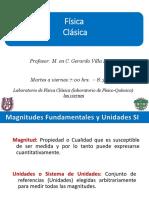 Sistemas de unidades  Física Clásica