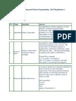 GE8151 Python Programming - Question Bank and Example Programs
