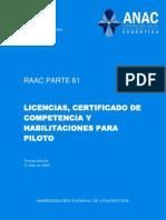 Boletín_Oficial_2.010-11-25-Administración_Nacional_de_Aviación_Civil-Resolución_980_2.010-Anexo_03-RAAC_Parte_61-Licencias_Certificado_de_Competencia_y_Habilitaciones_para_Piloto