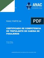 Boletín_Oficial_2.010-11-25-Administración_Nacional_de_Aviación_Civil-Resolución_980_2.010-Anexo_05-RAAC_Parte_64-Certificado_de_Competencia_de_tripulante_de_cabina_de_pasajeros
