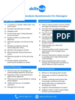 Training Needs Analysis Questionnaire for Managers