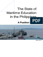 Position Paper - State of Philippine Maritime Education