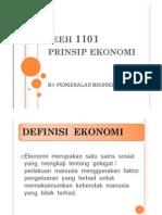 Bab 1 Pengenalan mikroekonomi