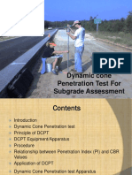 Dynamic cone penetration test for subgrade assesment