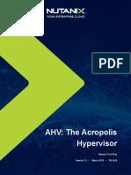 Tech Notes - AHV The Acropolis Hypervisor Version 2.1