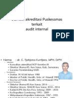 1. Standar Akreditasi Puskesmas Terkait Audit Internal