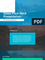 Sales Pitch Free Powerpoint Presentation Template