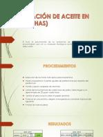 Evaluación de Aceite en Palta (Has)