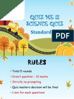 Science Quiz Class4 2019