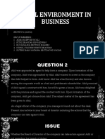 Legal Environment in Business