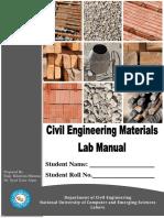 Civil Engg Materials Lab manual