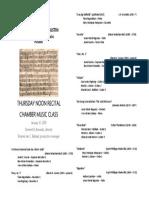 Recital (Chamber Music)