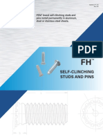 Pem Self-Clinching High-Strength Studs Type HFH//HFHS//HFHB Metric HFHS-M10-35