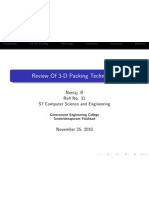 Review Of 3-D Packing Technology