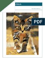 Cat Walking Cross Stitch Pattern
