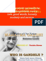 MK Gandhi - The unfolding of a hero