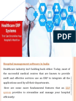 ERP software provider for hospital management in India