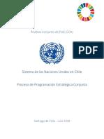Análisis Conjunto de País (CCA) Proceso de programación estratégica conjunta 2018