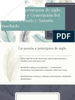 La poesía a principios de siglo. Modernismo y Generación del 98. Rubén Darío y Antonio machado