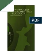 Conversaciones Sobre La Metafisica y La Religion - Malebranche