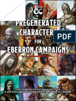 Pregenerated Characters for Eberron Campaigns