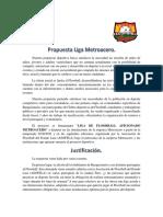 Propuesta Liga Metroacero