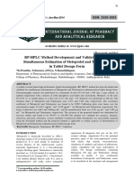 RP-HPLC Method Development and Validation for the Simultaneous Estimation of Metoprolol and Telmisartan in Tablet Dosage Form