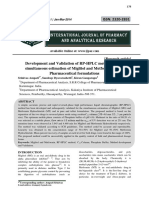 Development and Validation of RP-HPLC method for the simultaneous estimation of Miglitol and Metformin Hcl in Pharmaceutical formulations