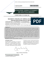 Quantitative estimation and validation of isotretinoin in Pharmaceutical dosage forms by RP-HPLC