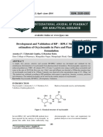 Development and Validation of RP – HPLC Method for the estimation of Oxyclozanide in Pure and Pharmaceutical formulation