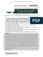 Comparative study on the effect of hydrophilic and hydrophobic polymers on the dissolution rate of a poorly water soluble drug