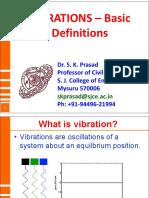Basics of Vibrations