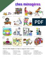 Les Taches Menageres Exercises Feuille Dexercices Fiche Pedagogique 70153