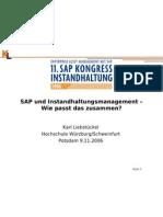 SAP Und Instandhaltungsmangement