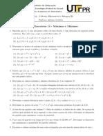 Lista 14 - Máximos e Mínimos (Respostas)