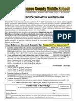 parent letter   syllabus