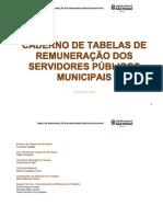 Caderno de tabelas de remuneração dos servidores públicos municipais SP