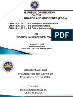 CHED PUBLIC Orientation on new Policies Standards and Guidelines