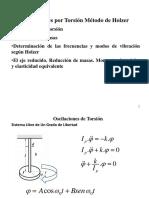 Oscilaciones por torsión. Método de Holzer