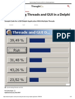 Synchronizing Threads and GUI in a Delphi Application