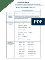 ficha tecnica de harina PRIME y aceite crudo CMM