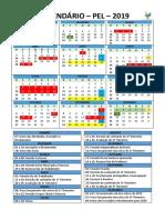 Calendário Pel 2019