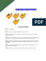 Classification Des Matières Dangereuses
