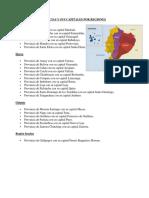 Provincias y Sus Capitales Por Regiones
