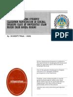 factors influencing students' oral classroom participation