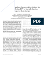 An Efficient Transform Decomposition Method for Sparse Input Points DFT in Multiple-Carriers Cognitve Radio System