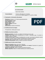 MSDS -- ÁCIDO CÍTRICO -- FOODCHEM