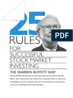 25 Rules for Successful Investment